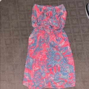 Lilly Pulitzer dress (strapless)